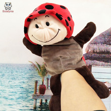 BOLAFYNIA Infant Children Hand Puppet Ladybug Beetle kids baby plush Stuffed Toy Puppets toys Christmas birthday gift(China)