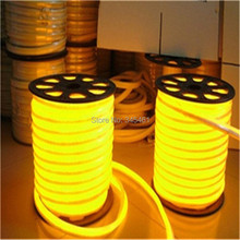 50 Meters Led neon flexible tube White/warm white/Yellow/ red/ green/Orange/Blue 220/110V lantern flexible neon light