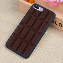 3D Chocolate Bar Printed Soft Rubber Mobile Phone Cases For iPhone 6 6S Plus 7 7 Plus 5 5S 5C SE 4 4S Cover Skin Shell