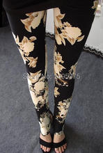 120pcs/lot 2015 New fashion spring flower star printed legging(China)