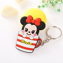 Zoeber Fashion Cartoon Cute Cup Key Cover Anime Minion Hello Kitty Silicone Key Chains Funny Animal Key Holder Caps Keychain