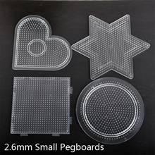 1pcs 2.6mm Hama Perler Template Pegboards Small Round Six Star Heart Square Shape Pattern Perler Fuse Beads Template Board