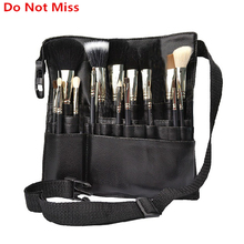 Do Not Miss 22 Pockets cosmetic makeup bag Makeup Artist Belt Strap Collection Bag women profession Makeup Pen Cosmetic bags