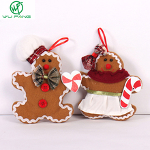 Gingerbread Man plush small pendant snowman decoration Cute Santa Claus hanging Toy Christmas Tree Ornaments Gifts favors