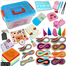 Most Complete Quilling paper set color paper drawing material package beginners tool Board with Storage Box Suitcase New(China)