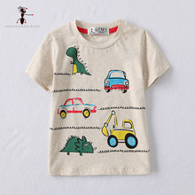 KungFu Ant 2017 Boys Summer Cotton Cool Character Lovely O-neck Short Sleeve Casual T-shirt for Kid Children Tee Shirts 2707(China)