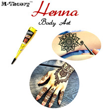 M-theory Mehndi Henna Indian Temporary Tattoos Body Arts Paint Mehndi Flash Tatoos Waterproof Bikini Swimsuit Makeup Tools