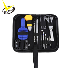 13pcs Watch Repair Tool Kit Set Watch Case Opener Link Spring Bar Remover Screwdriver Tweezer Watchmaker Dedicated Device(China)