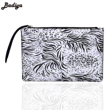 Badiya Fashion Design Leopard Print  Animal Pattern Women's Handbag Female PU Leather Handbags Party Bag Ladies Day Clutch Bags