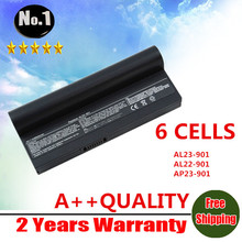 wholesale New laptop battery for  Eee PC 901 904HD 1000 1000H 1000HD Eeepc 901 AL24-1000 AL23-901 6 cells free shipping
