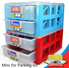 Free shipping ! mini parking lot drawer toy storage box collection car parking sold separately,Storage box car, parking box toys(China)
