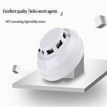 Ion Smoke Detector High Sensitivity Wired Smoke Alarm Sensor Home Security System for Living Room Hotel(China)