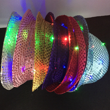 2017 Limited Hot Sale Gafas Led Costume Leds 6pcs/lot Choose Color Dress Up Party Head Accessory Adult Kids Gift Hat