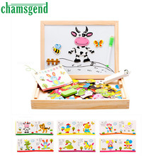 HOT Animal Drawing Writing Board Magnetic Puzzle Double Easel Sketchpad Toy  Children Intelligence Development Toy SEP 01