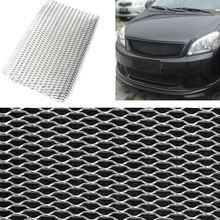 Universal 100cm x 33cm Aluminium Racing Grille Net Mesh Vent Car Tuning Grill Silver