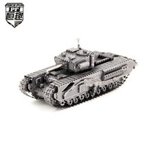 PIECE FUN 3D Metal Puzzles Assemble DIY Churchill Tank Model Jigsaw Puzzle Toys For Children Adults New Year Gift(China)