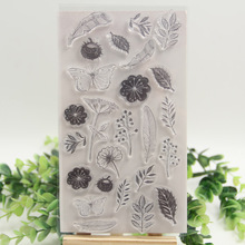 Flower Butterfly Transparent Clear Silicone Stamps for DIY Scrapbooking/Card Making/Kids Christmas Fun Decoration Supplies(China)
