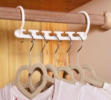 Best Quality Space Saver Wonder Magic Clothes Hangers Closet Organizer Hooks Racks Useful(China)