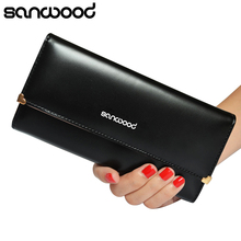 2015 Women's Rivet Heart Faux Leather Clutch Long Purse Card Coin Wallet Handbag Bag 6O5D
