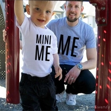 2017 New Arrival Summer Short Sleeve T Shirt Cute Me Mini Me Printing Parenting Fashion Clothing Tumblr White Tee XS 4XL(China)