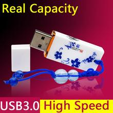 Real Capacity Rectangle Memoria Usb 3.0 Usb Flash Drive 64gb Pen Drives Pendrive Pen Drive 32gb Memory Stick Hard Disk Gift(China)