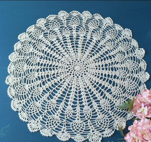 Hand Crochet Pineapple Flower Round Tablecloths 50CM Cotton Table cloth Wedding Decoration Mats Cover cloth  Home Textile