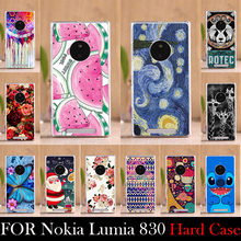 For nokia Lumia 830 CASE Hard Plastic Mobile Phone Cover Case DIY Color Paitn Cellphone Bag Shell  Shipping Free