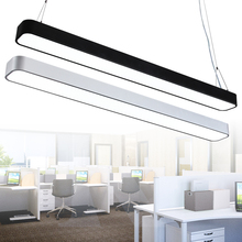 Modern office lighting Pendant Lights minimalist rounded border led rectangular aluminum narrow strip office Pendant lamp BG16