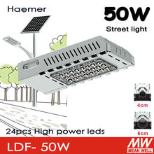 50w led streetlight. can be used to  solar powered system. 4cm or 6cm lamp pole for garden and by-path road lighting.Haomer