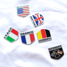 3D Aluminum car Flag sticker accessories For Volvo S40 S60 S80 XC60 XC90 V40 V60 C30 XC70 V70/Mini Cooper R50 R52 R53 R55 R56