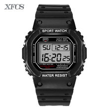 XFCS 2017 waterproof wrist digital automatic watches for men digitais watch running mens man digitales clock diving sport watch(China)