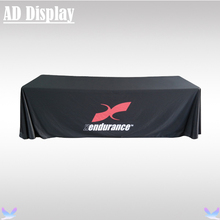 8ft Loose Fit Advertising Table Throw Printing,Business Display Polyester Fabric Full Color Printed Table Cover/Table Cloth(China)