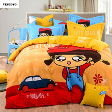 VESCOVO Home Textile 3/4pcs Bedding Sets Size for Twin Full Queen king Home Hotel Bed Linen Bed Sheets Duvet Cover Set