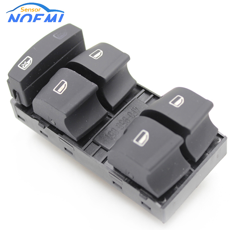 NEW Driver Side Master Window Control Switch Button 4F0 959 851 f 4F0959851 4F0959851f 4F0 959 851f For 2006-2007 For Audi A6 C6(China)