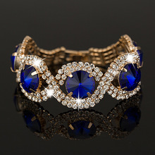 YFJEWE Luxury Fashion Bracelets & Bangles wholesale Rhinestone best sell Bracelets Bangles for women #B002