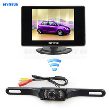 DIYSECUR Wireless 3.5 inch TFT LCD Car Monitor Rear View Kit Reversing IR Camera Parking Assistance System(China)