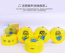 The new hot small yellow people wireless Bluetooth speaker support card inserted U disk cartoon mini speaker