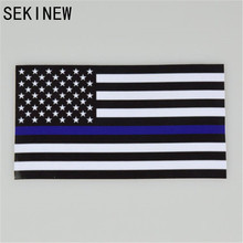 Police Officer Thin Blue Line American Flag Vinyl Decal Car Sticker DECALS STICKER POLICE Subdued Flag