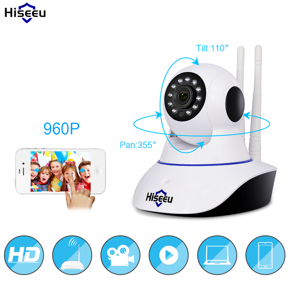 960P Wireless IP Camera Wifi Night Vision Camera IP Network Camera action with alarm CCTV WI-FI P2P 1.3MP Onvif Clear voice FH1B<br>