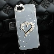 3d Cute Love Cover Crystal Bling Cell Phone Case for Iphone 7 7 Plus 6 6s Plus 4 4s 5 5s Diamond Rhinestone Mobile Phone Cases