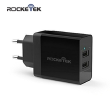 Rocketek 5V3.4A Universal Travel USB Charger Adapter Portable EU Plug Mobile Phone Smart Charger for iPhone Tablet Wall Charger