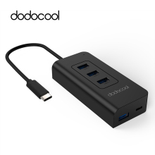 dodocool USB-C to SuperSpeed 4-Port USB 3.0 Hub with USB Type-C Input Charging Port Power Delivery for Apple New MacBook Google