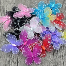100Pcs Mesh 3D Multicolor PVC Butterfly Wall Stickers For Girl Kids Baby Rooms Kitchen Fridge Wedding Home Decoration(China)