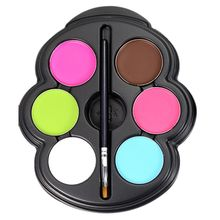 popfeel Rainbow Color Body Paint Glowing Neon UV Face Painting Palette Temporary Tattoo Pigment Makeup Halloween Makeup(China)