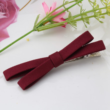 Sweet Style Headwear Solid Bowkont Ribbon Hair Accessories Girls Hairclips Butterfly Tie Clips Women Hairpins Female Hairgrips(China)