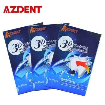 Azdent 3 3d cajas de dientes tiras de blanqueamiento 14 bolsas/28 profesión efectos de blanqueamiento dental blanqueador de dientes blanqueamiento tiras advanc