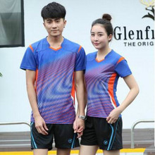 Table Tennis Clothing 2017 New Men's T-shirt Badminton Suit Lovers Women's Perfect Quality Outdoor Training Sports Jerseys(China)