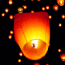 10pcs Chinese Paper Lantern Sky Lanterns Flying Wishing Lamp Kongming Lantern Balloon Wedding Party Decoration(China)