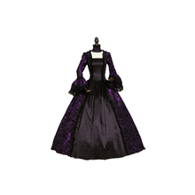 Wine Red and Black Marie Antoinette Masked Ball Victorian Prom Dresses