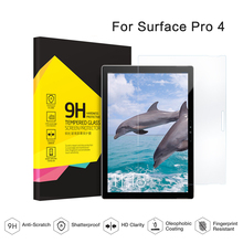 For Microsoft Surface Pro 4 12.3'' Tablet PC Ultrathin 2.5D Arc Edge/9H Tempered Glass Screen Protector(China)
